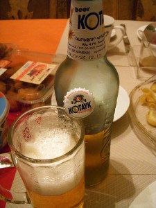 Finish off with an Armenian beer brewed where I stay in Naccache, Lebanon