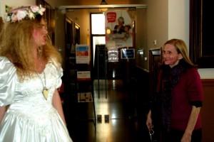 Catherine Goodwin (the bride) encounters Liz Parkinson