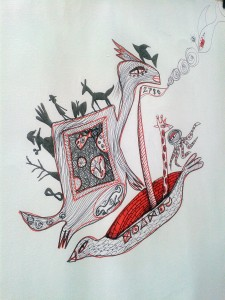 Julia Sisi creating wonderfully. Nice little octopus dedication to me also!