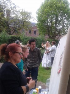 My Posca pen partners and I getting busy. Gareth getting married in the back.