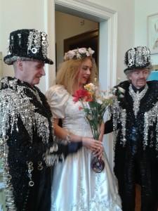 In comes the bride..