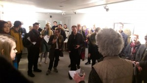 David Maclagan introducing the exhibition